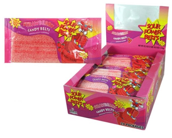 STRAWBERRY SOUR POWER BELTS