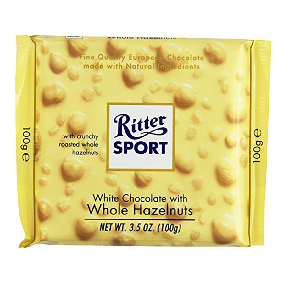 WHITE WHOLE HAZELNUT CHOCOLATE BAR
