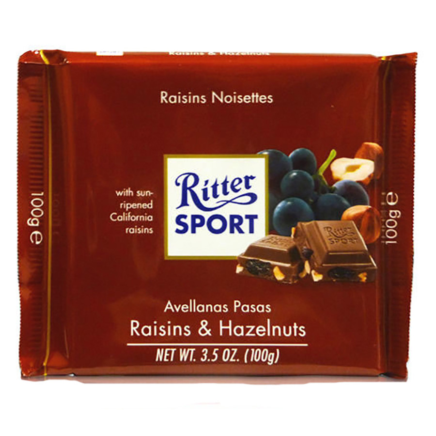 RAISIN HAZELNUT CHOC BAR