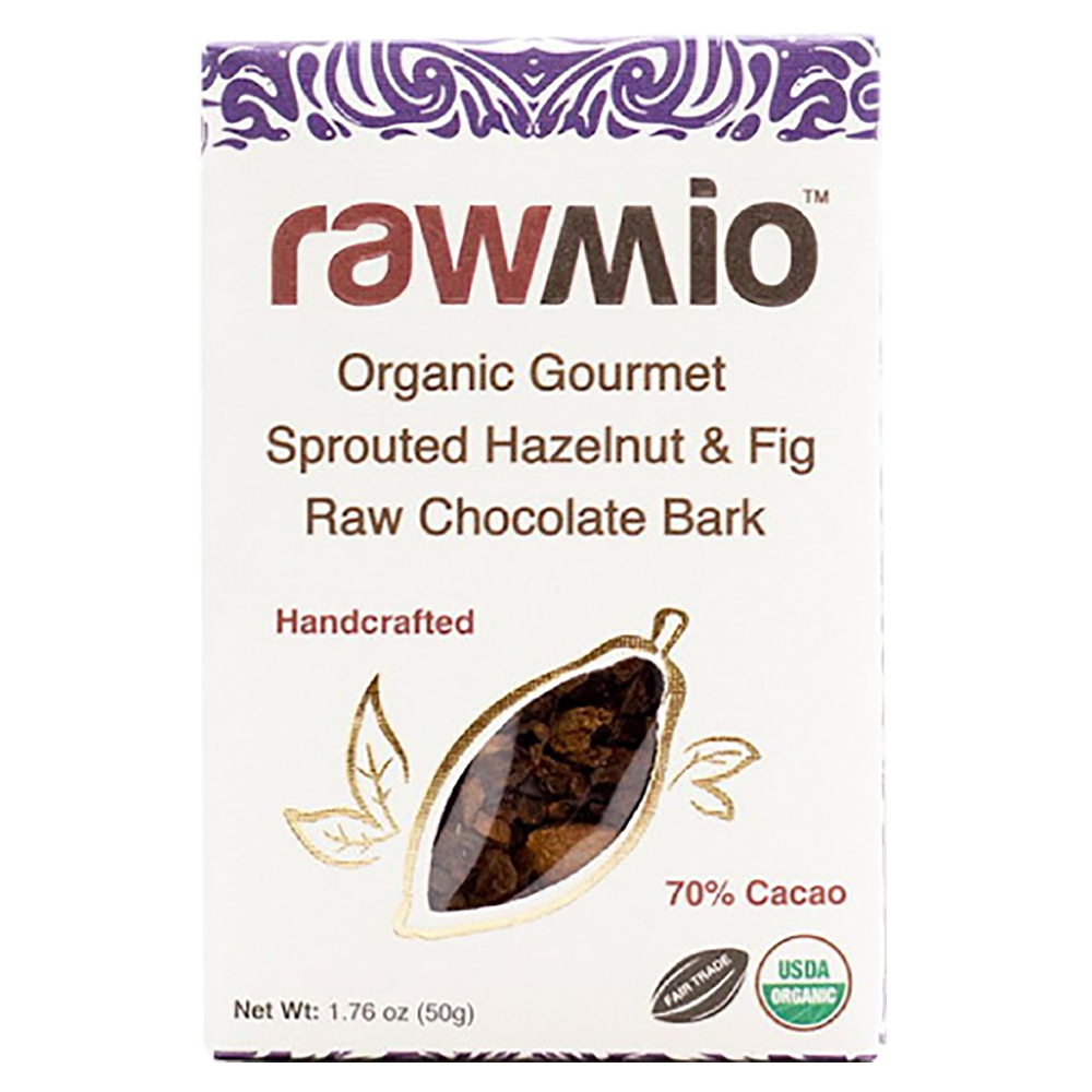 HAZELNUT & FIG RAW CHOCOLATE BARK