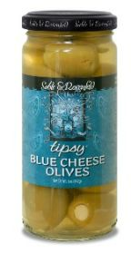 BLUE CHEESE STUFFED TIPSY OLIVES