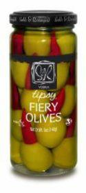 VODKA TIPSY FIERY OLIVES-ALL NATURA