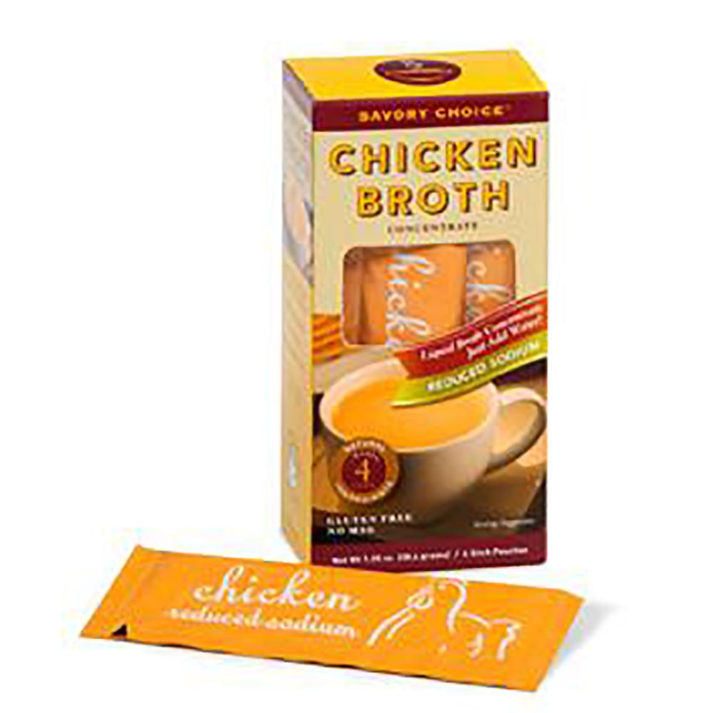 CHICKEN BROTH-LOW SODIUM-4 STICK