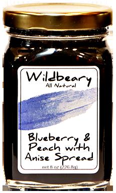 BLUEBERRY & PEACH W/ANISE SPREAD