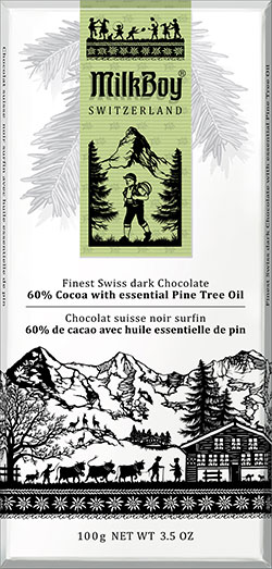 DARK 60% COCOA WITH PINE OIL BAR