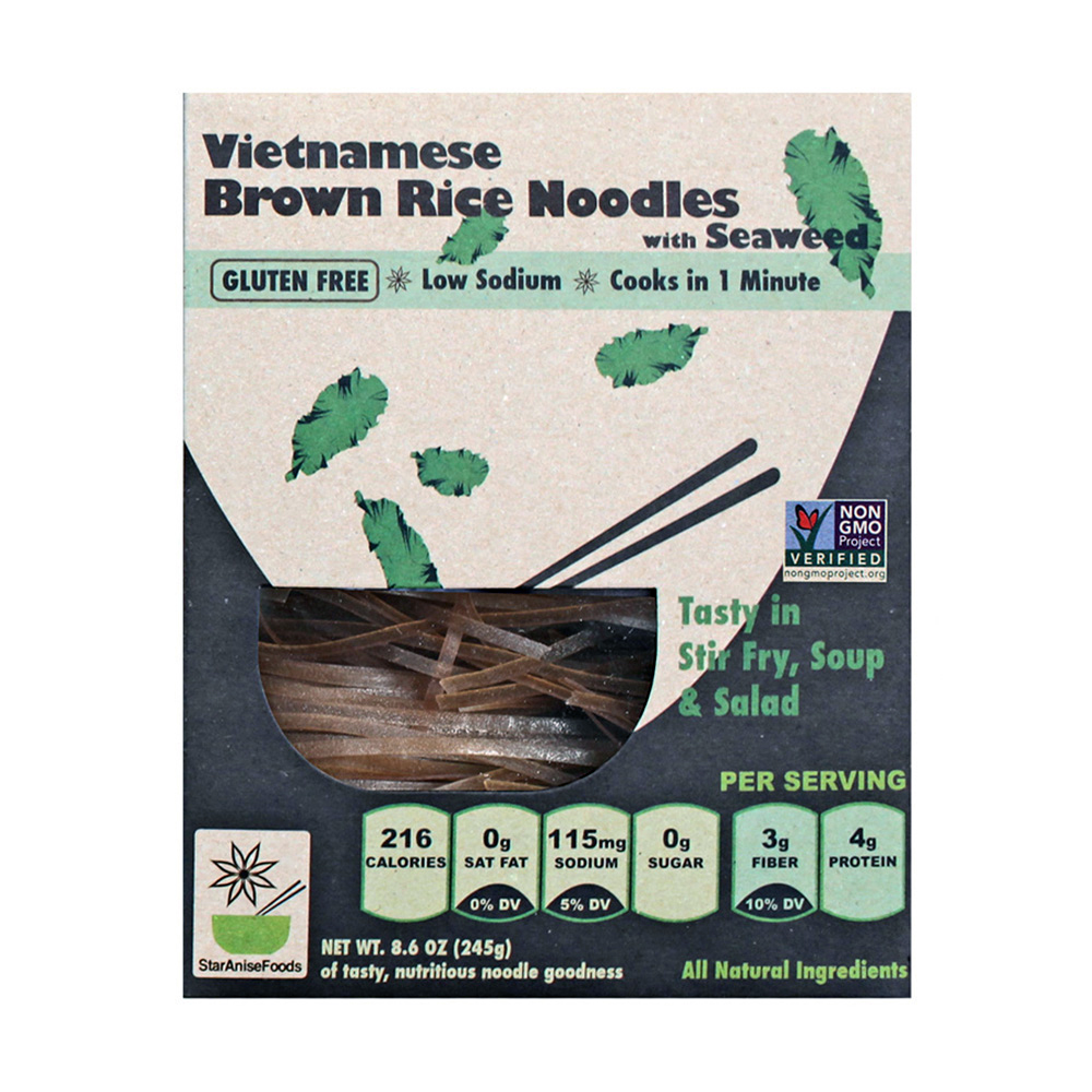 BROWN RICE NOODLES W/SEAWEED