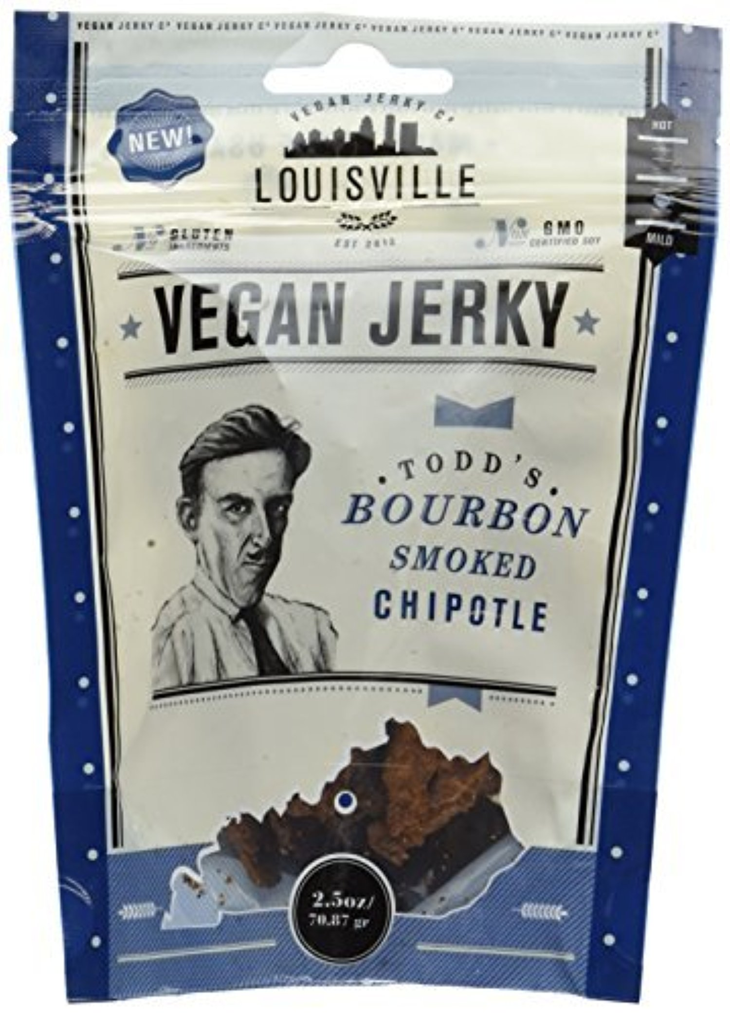 BOURBON SMOKED CHIPOTLE VEGAN JERKY