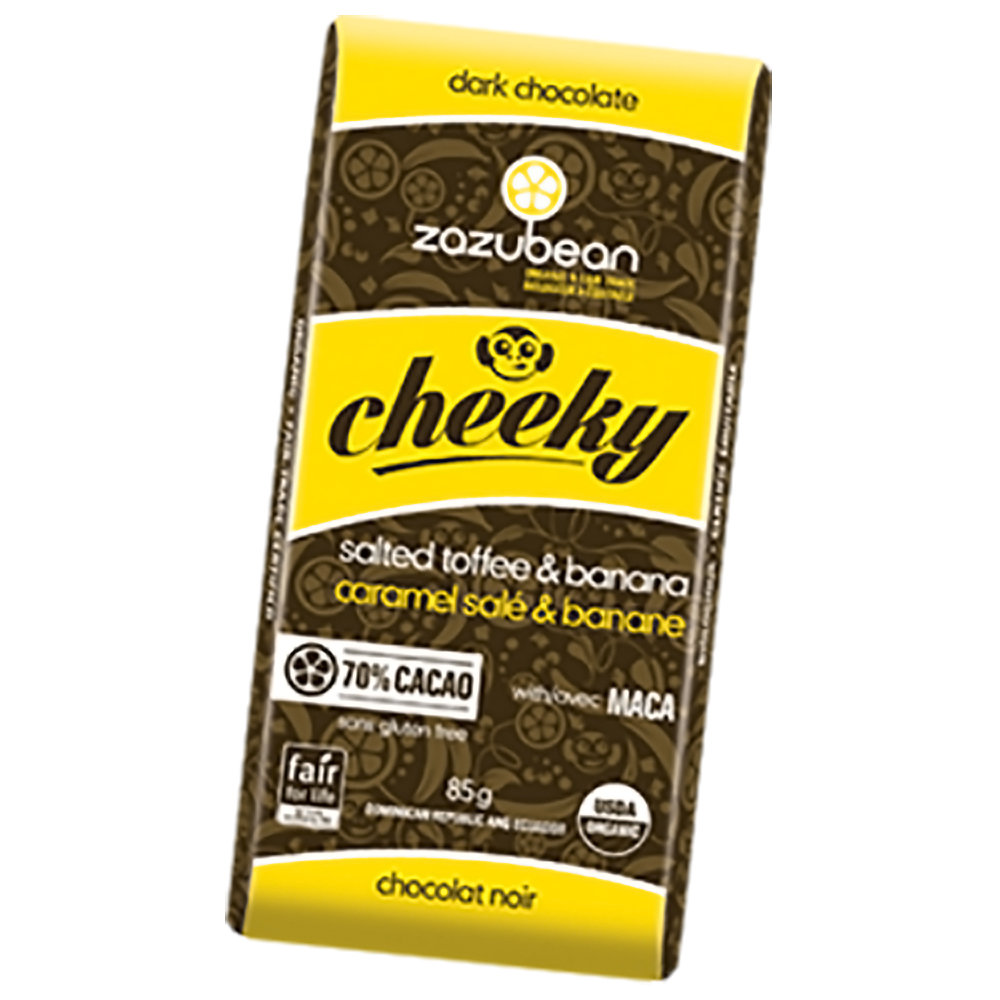 CHEEKY 70% DARK TOFFEE BANANA BAR