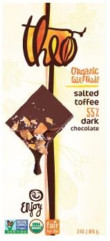 SALTED TOFFEE 55% DARK BAR