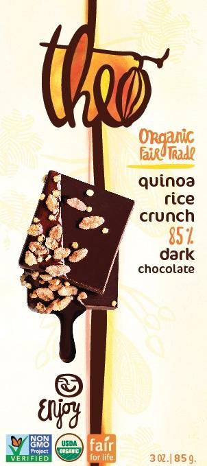 BLACK RICE QUINOA 85% DARK BAR